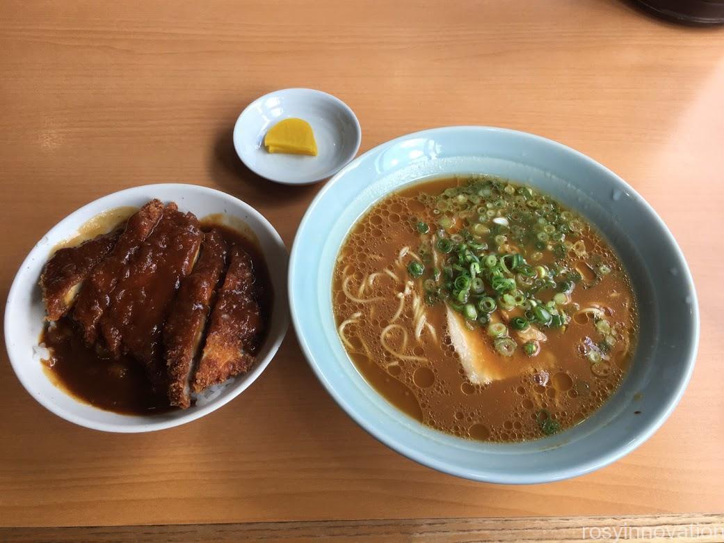 1中華そば専門店広松 (5)カツ丼セット