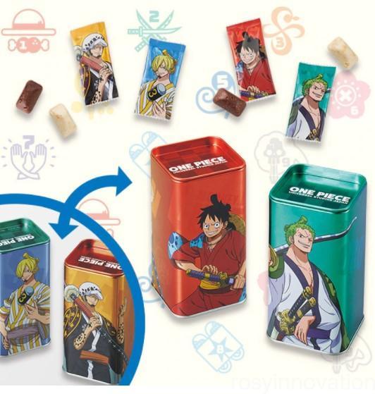 USJワンピースグッズ2021 お菓子 チョコクランチ缶