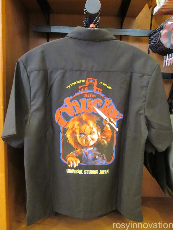 USJチャッキーグッズ2021ハロウィン ファッション シャツ