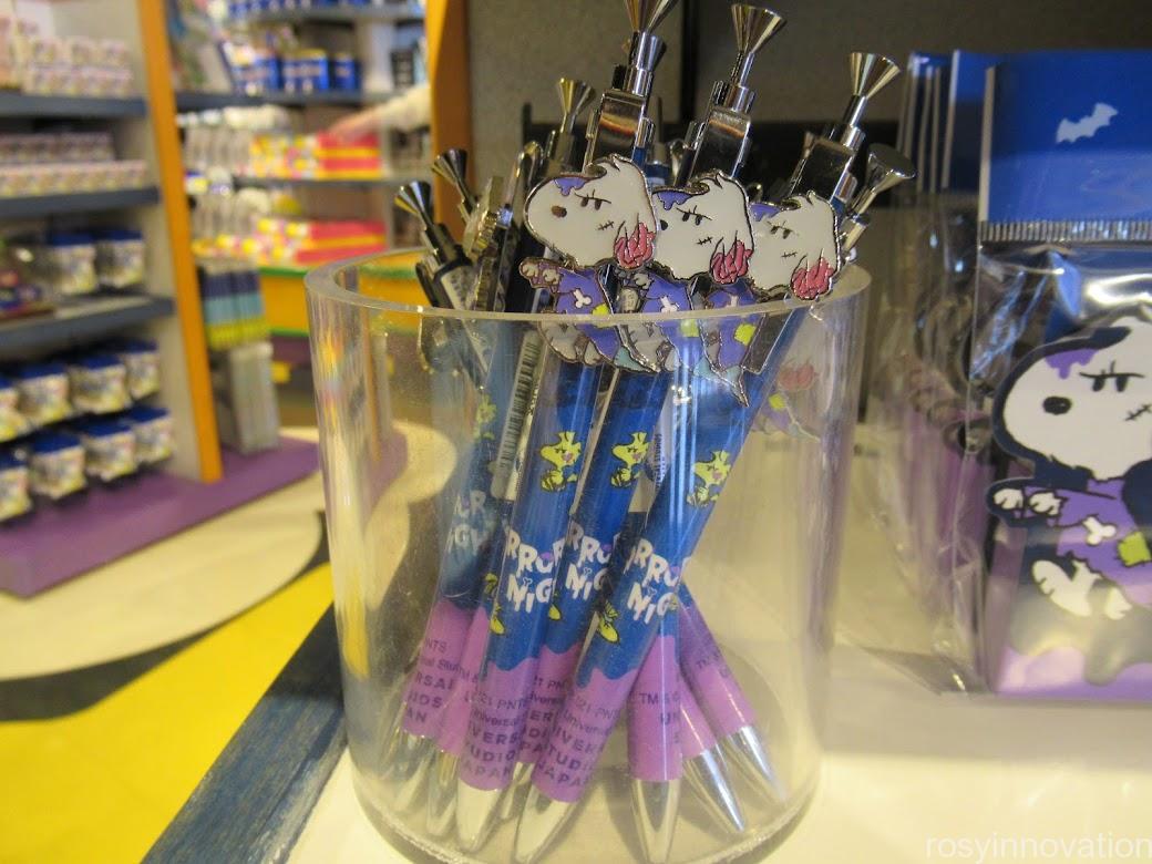USJ2021年ハロウィンスヌーピーグッズ 文房具 ボールペン