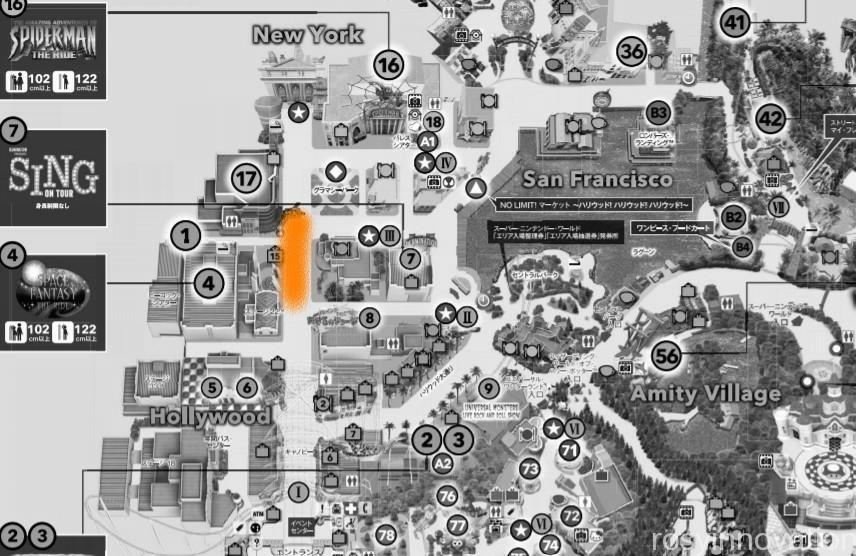 USJゾンビ 出現マップ2021 ホラーナイト ハロウィン (7)