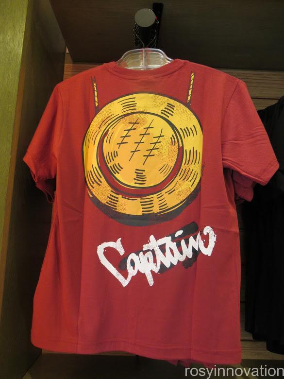 USJワンピースグッズ2021 ファッション Tシャツ ルフィ裏