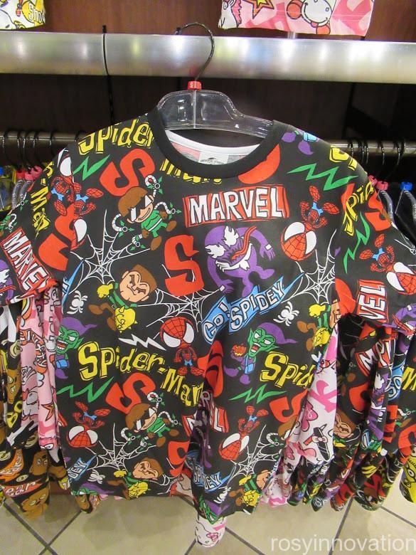 USJ Tシャツ スパイダーマン 総柄