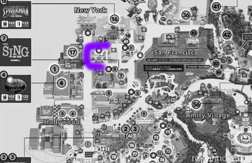 USJゾンビ 出現マップ2021 ホラーナイト ハロウィン (10)